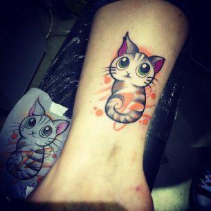 Funny Cat Tattoo