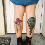 Girl Calf Tattoos
