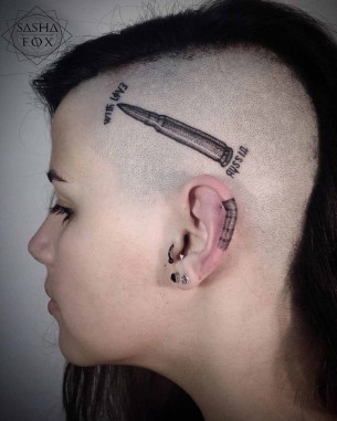 Girl Head Tattoo