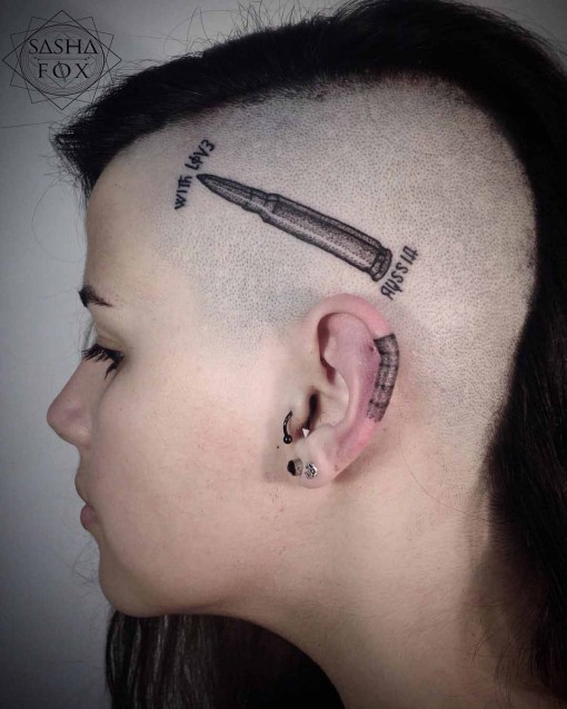 bullet head tattoo