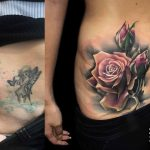 cover up tattoo on stomach