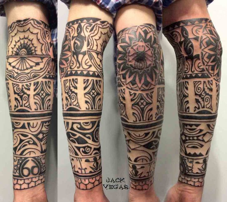 Half Sleeve Maori Tattoo by jack_vegas_ink