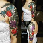 Half Sleeve Tattoo Flowers