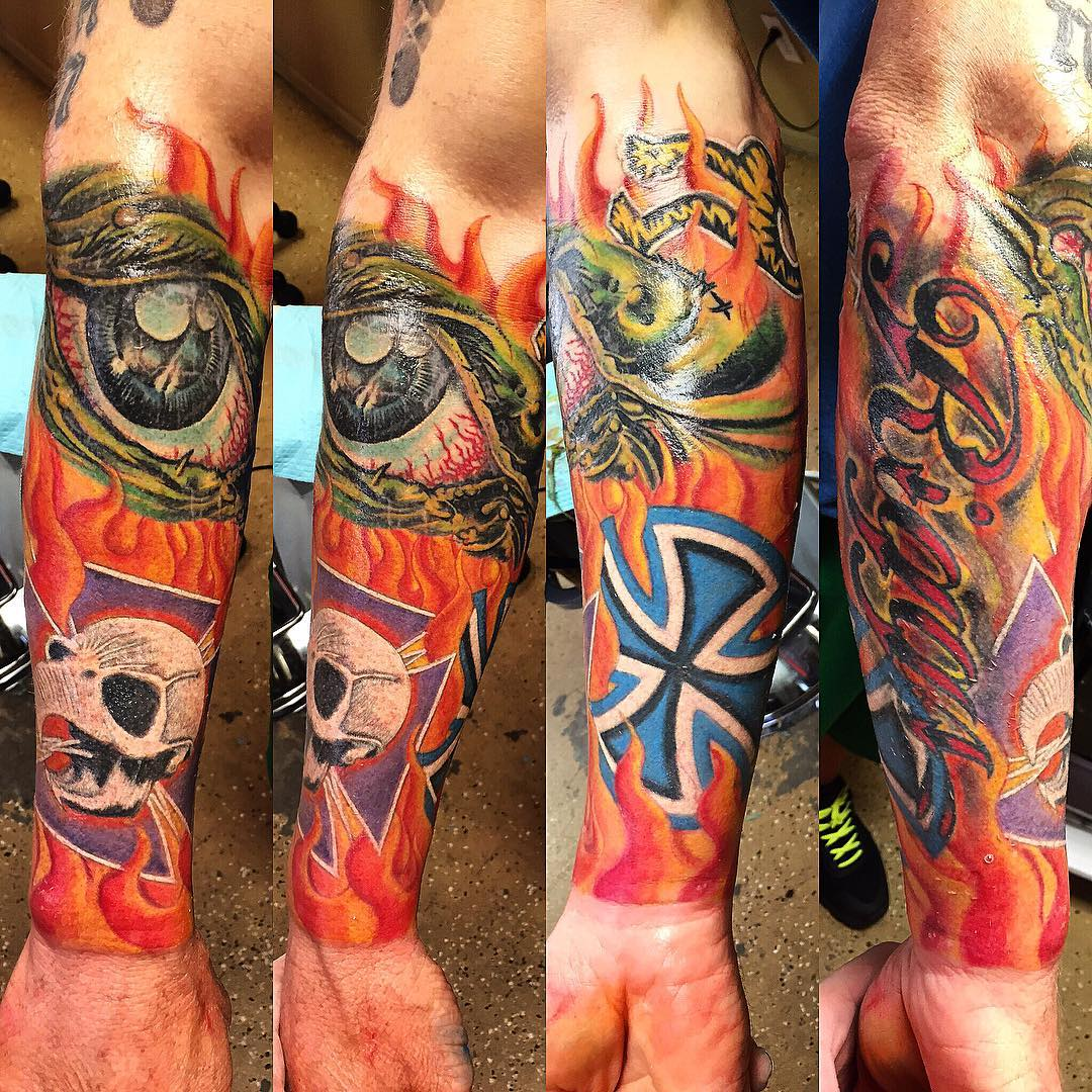 Half Sleeve Tattoo Forearm by andy_october