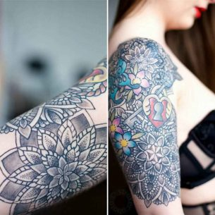 Half Sleeve Tattoo Girl