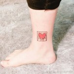 Heart Ankle Tattoo by handitrip