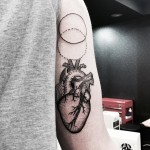 Heart Tricep Tattoo by naleak