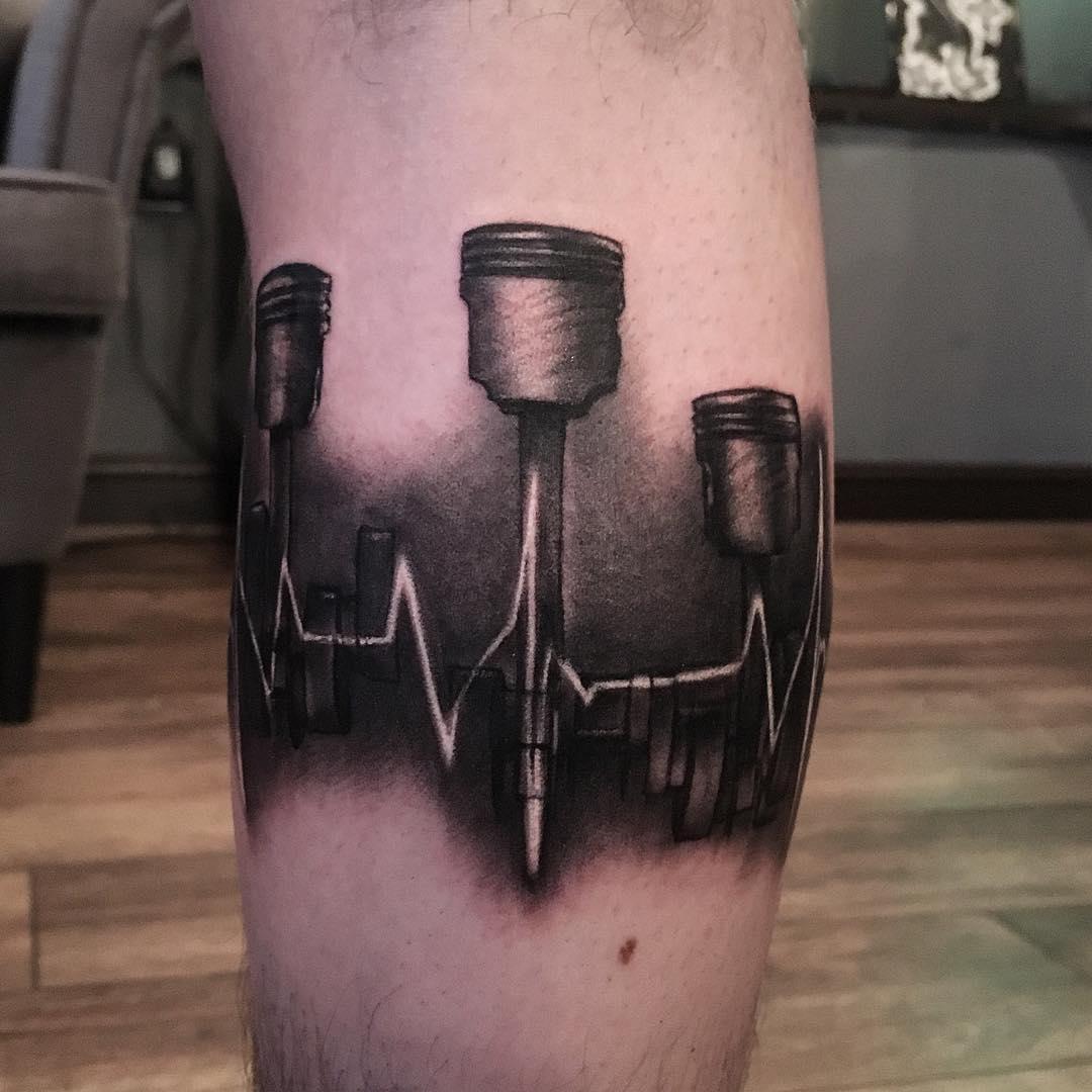 Heartbeat Pistons Tattoo by alyx_hgtc