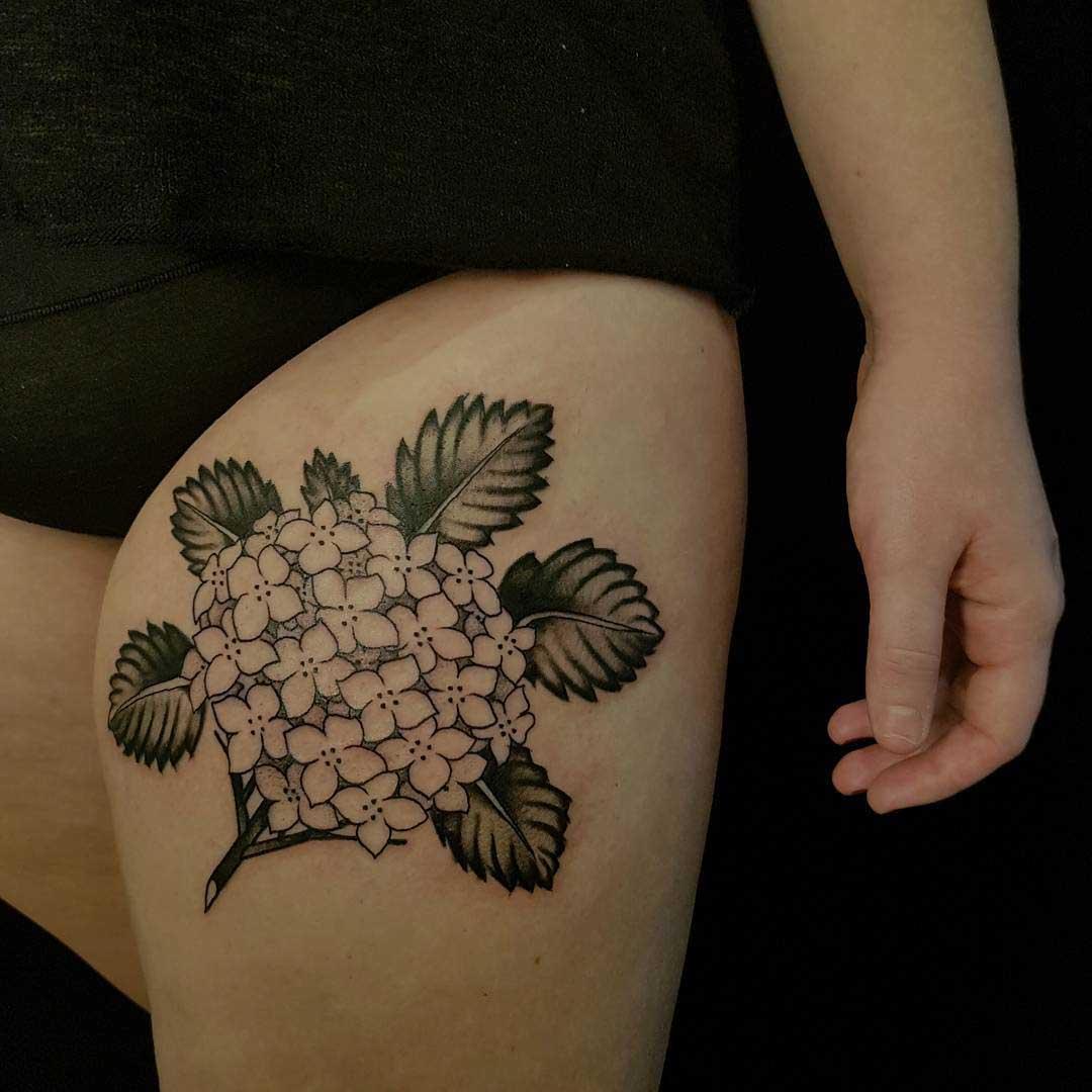 Hydrangea Tattoo Best Tattoo Ideas Gallery
