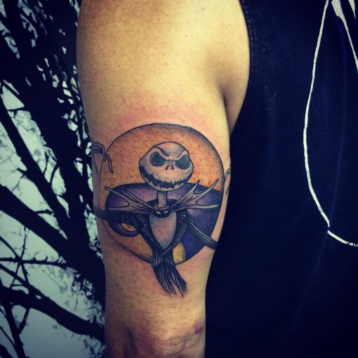 jack skellington tattoo on tricep best tattoo ideas gallery. Black Bedroom Furniture Sets. Home Design Ideas