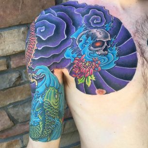 Japanese Tattoo Half Sleeve