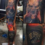 Leg Sleeve Tattoo Space