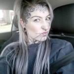 Lines Chin Tattoo Girl