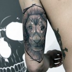 Lion Tricep Tattoo