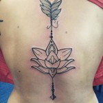 Lotus Tattoo Back by allinkeduptattoo
