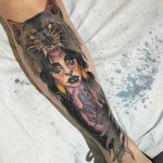 Magical Shin Tattoo by toriewartoothtattoo