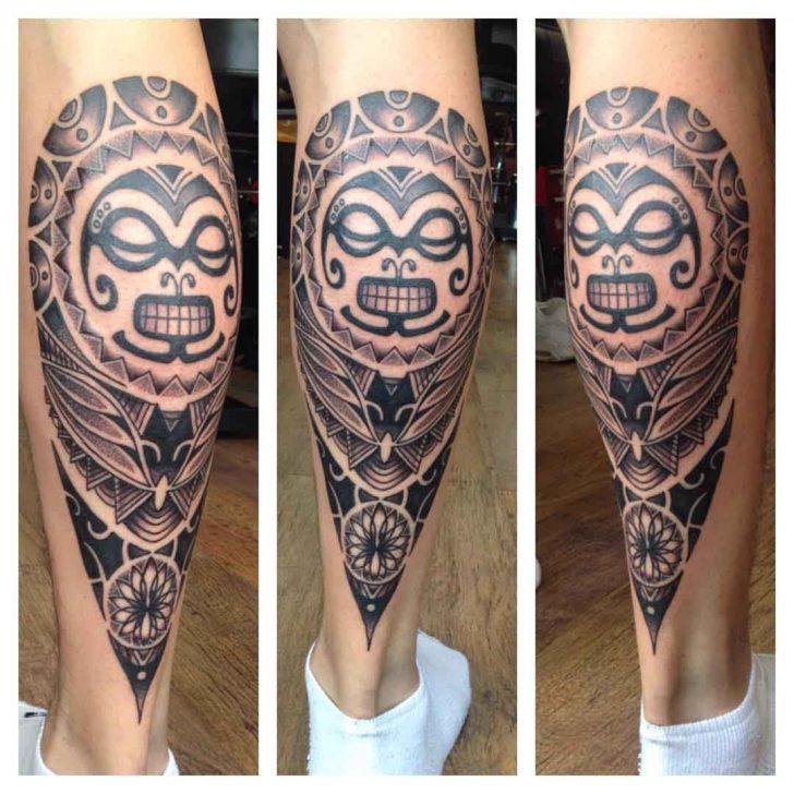 Maori Calf Tattoo by natalietattoo
