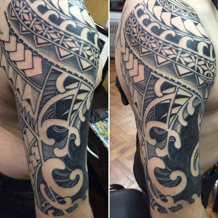 Maori Tattoo Shoulder by roredlabel