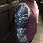 3D Shoulder Tattoo realism