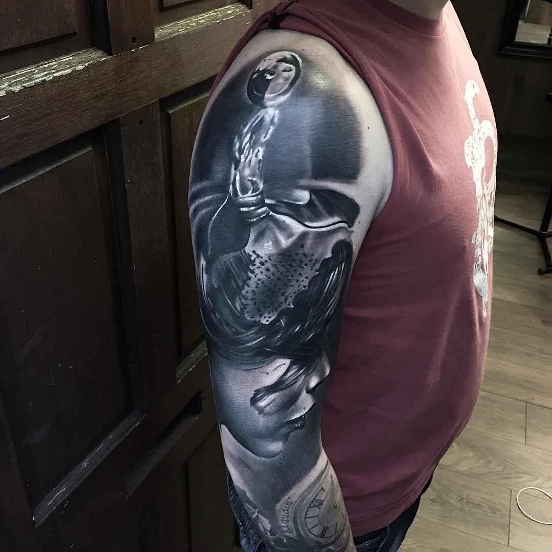 3D Shoulder Tattoo realism