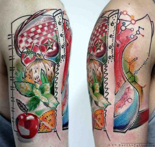 shouler tattoo gastronomy