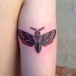 Moth Tricep Tattoo