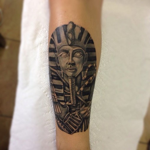 Pharaoh Tattoo Design by artofricardomoreno