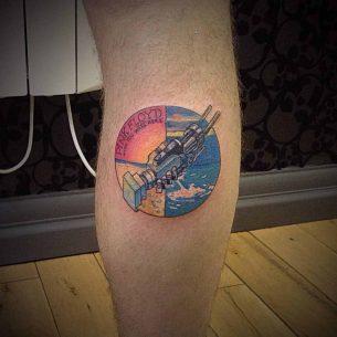 Pink Floyd Tattoo On Calf Best Tattoo Ideas Gallery