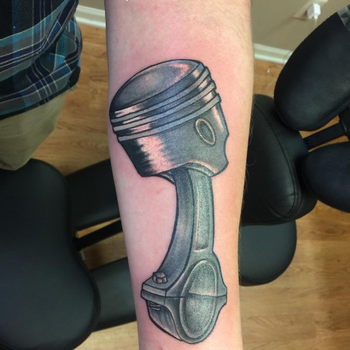 Piston Arm Tattoo by allen6034