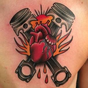 Piston Heart Tattoo