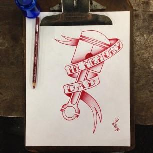 Piston Tattoo Design