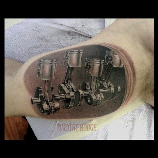 Pistons Tattoo by badgerxavenger
