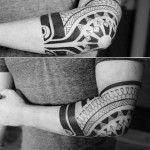 Polynesian Elbow Tattoo