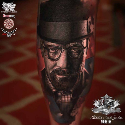 Breaking Bad Tattoo Heisenberg portrait