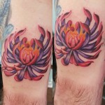Purple Lotus Tricep Tattoo