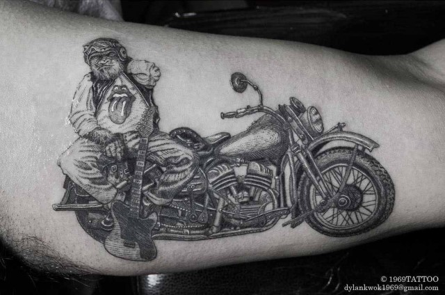 Biker Tattoo on Bicep