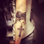 Rosary Tattoo on Arm