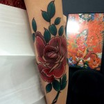 Rose Elbow Tattoo by trindade_luiz