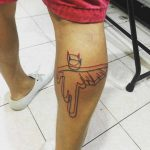 Running Batman Outline Tattoo Minimalism by eddzape