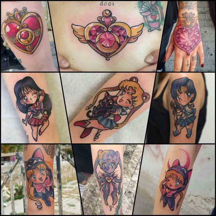 sailor moon tattoos