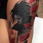 Sandman Tattoo on Thigh