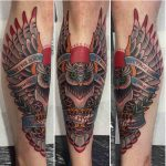 Shin Tattoo Owl