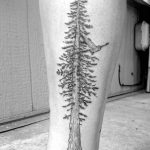 Shin Tattoo Tree by caspercallawaytattoo