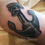 Skull Anchor Tattoo Piston