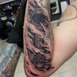 Skull Piston Tattoo