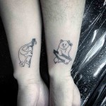 small animals tattoos for couple