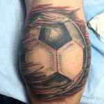Soccer Ball Tattoo on Calf