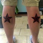 Star Tattoos on Calf