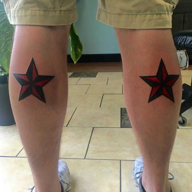 Star Tattoos on Calf by samwisecolangelo