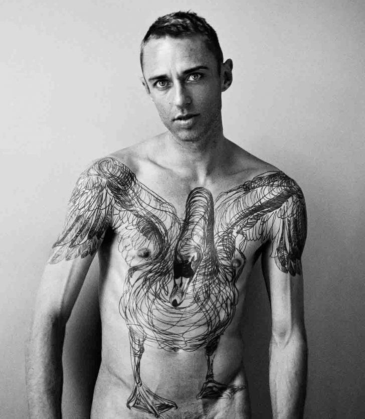 torso swan tattoo